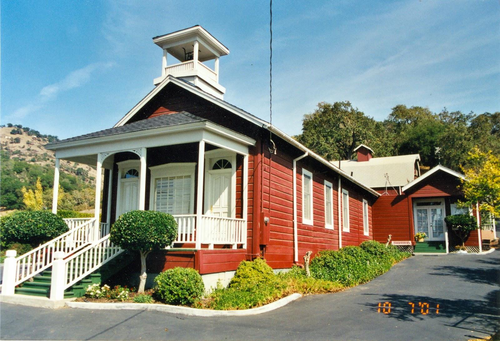One room schoolhouse on Silverado Trail in Napa