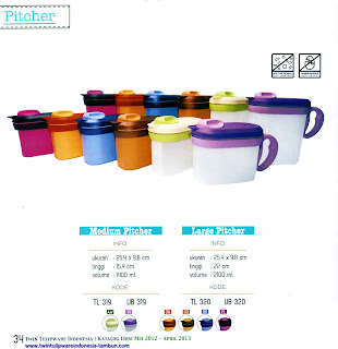 Info & Harga Twin Tulip Tulipware 2014 : Medium Pitcher | Large Pitcher