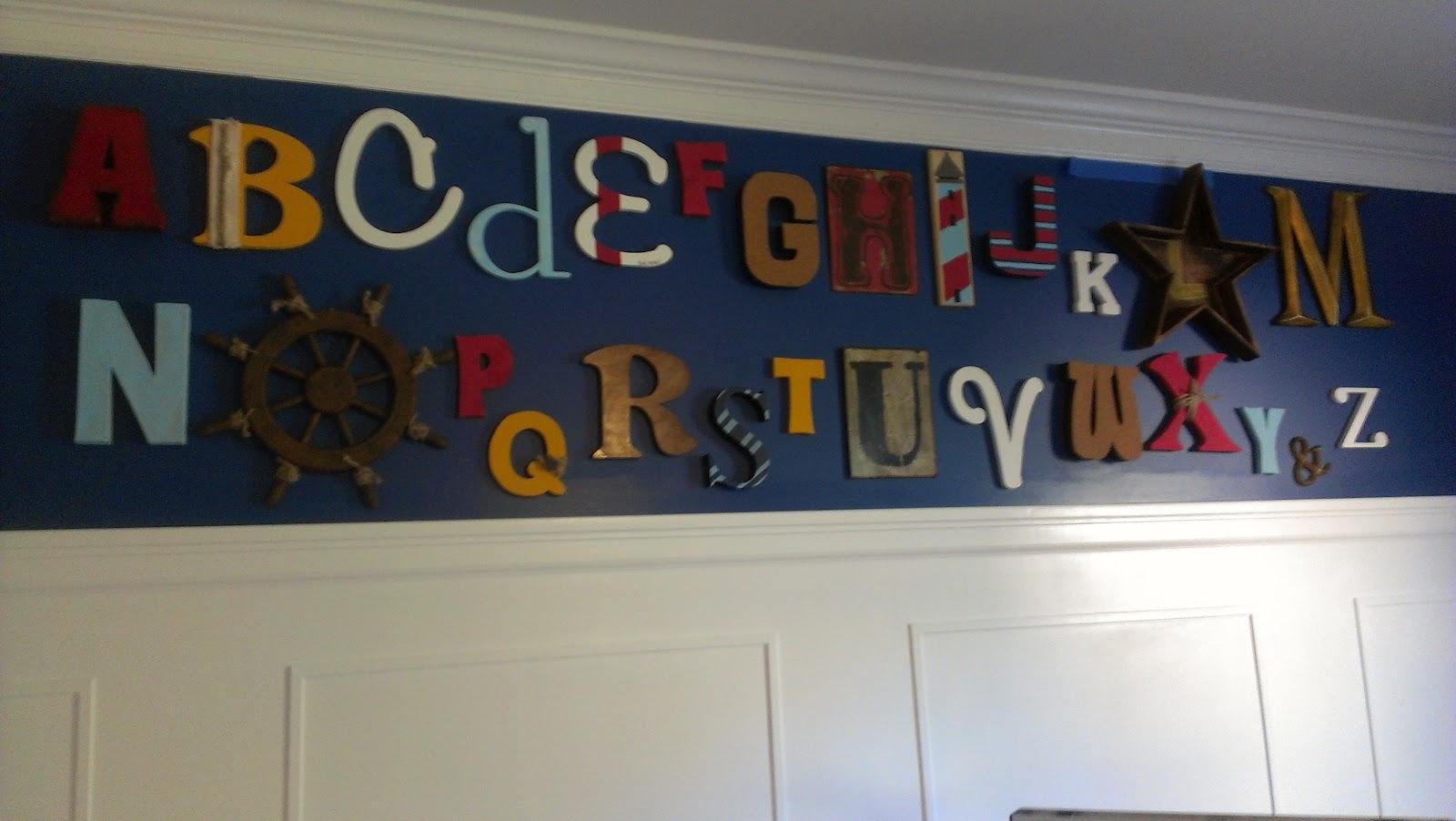 Diy Alphabet Wall Decor : Purposeful productions diy baby room alphabet wall decor