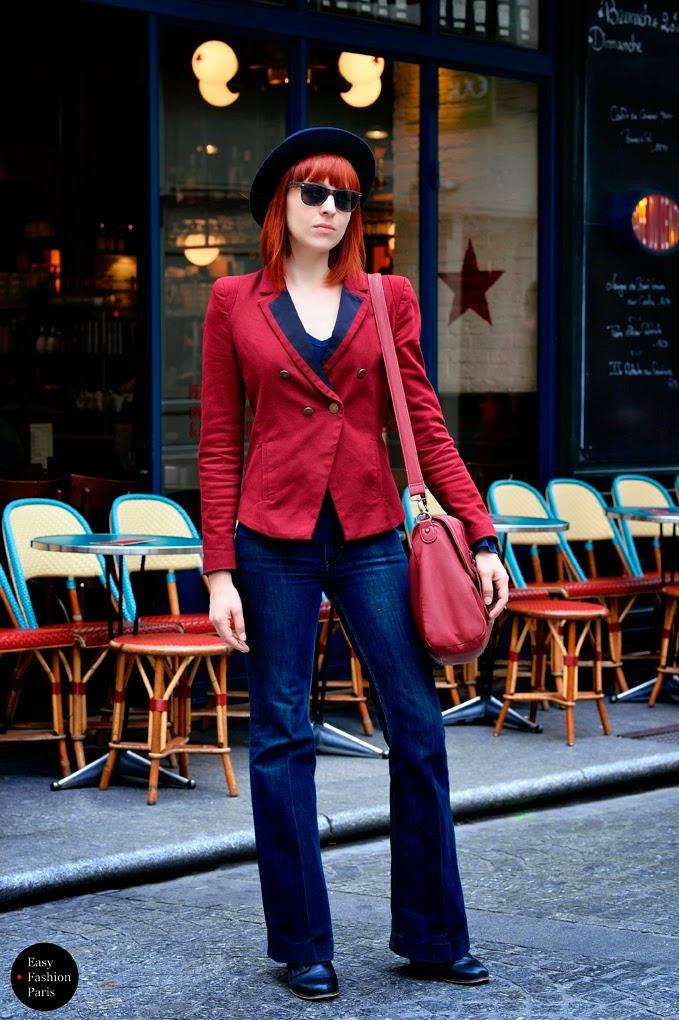 Pantalones campana denim street style 2015