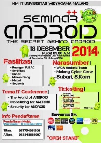 Seminar The Secret Behind Android Di Malang