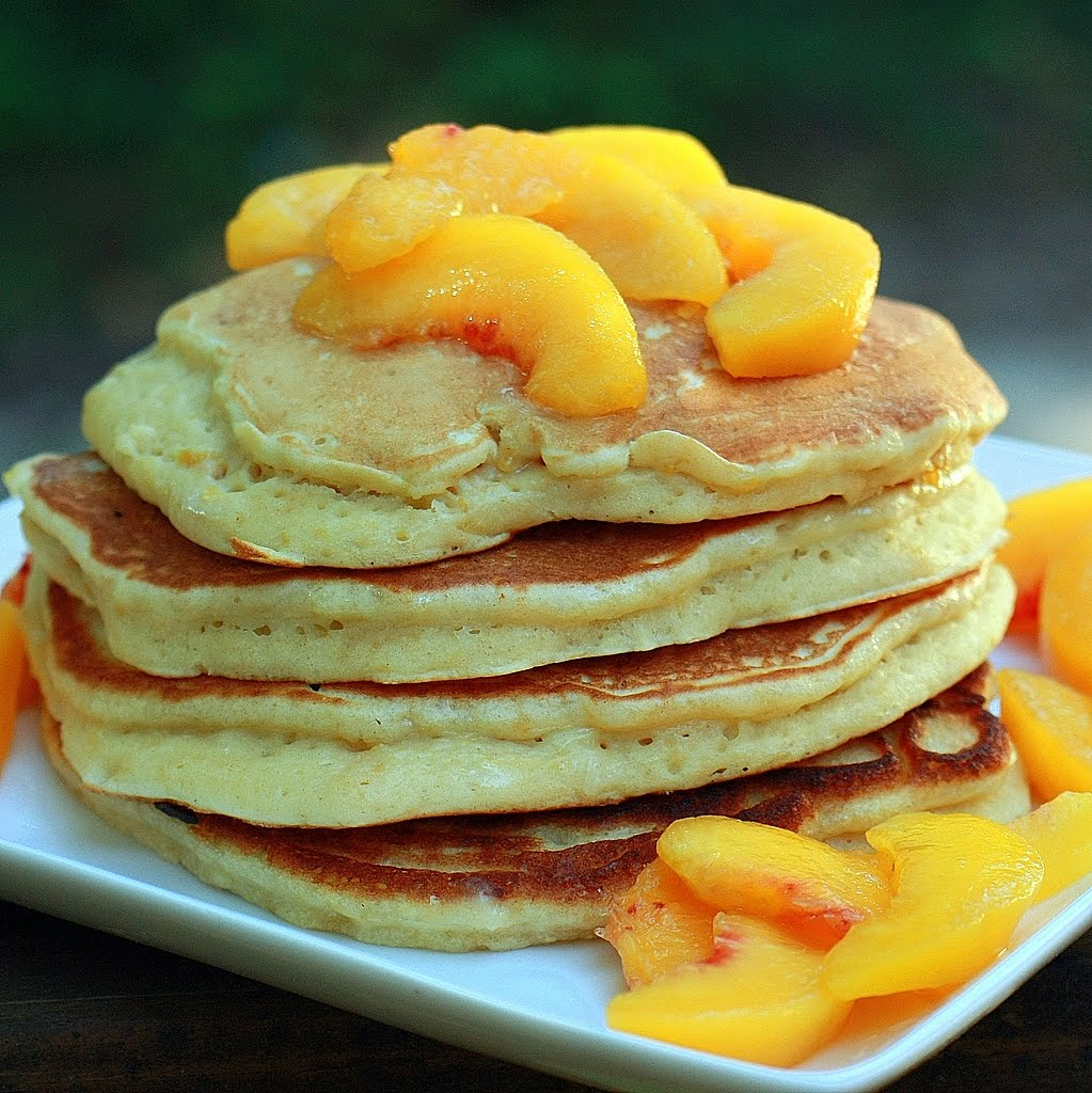 Peach Pancakes for a Weekend Breakfast