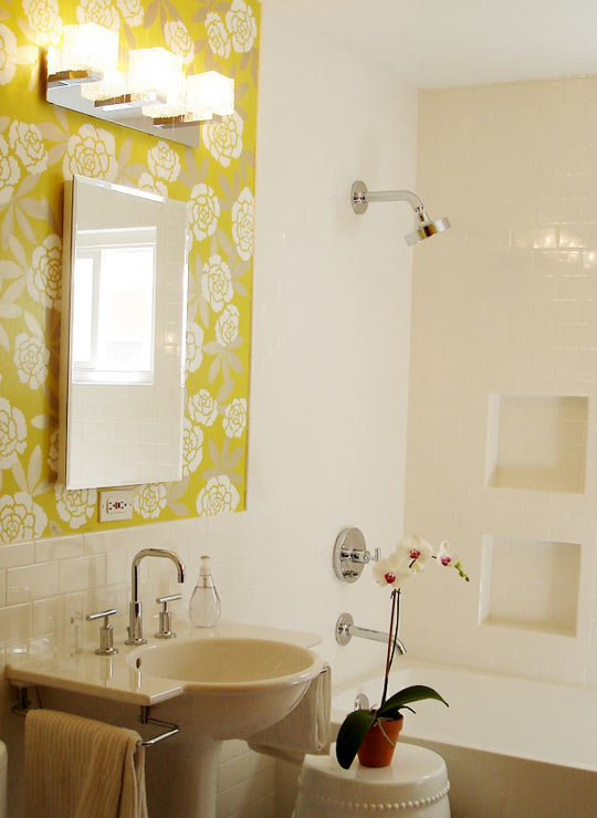 Kelsey m design wallpaper wednesday bathrooms Bathroom design apartment therapy