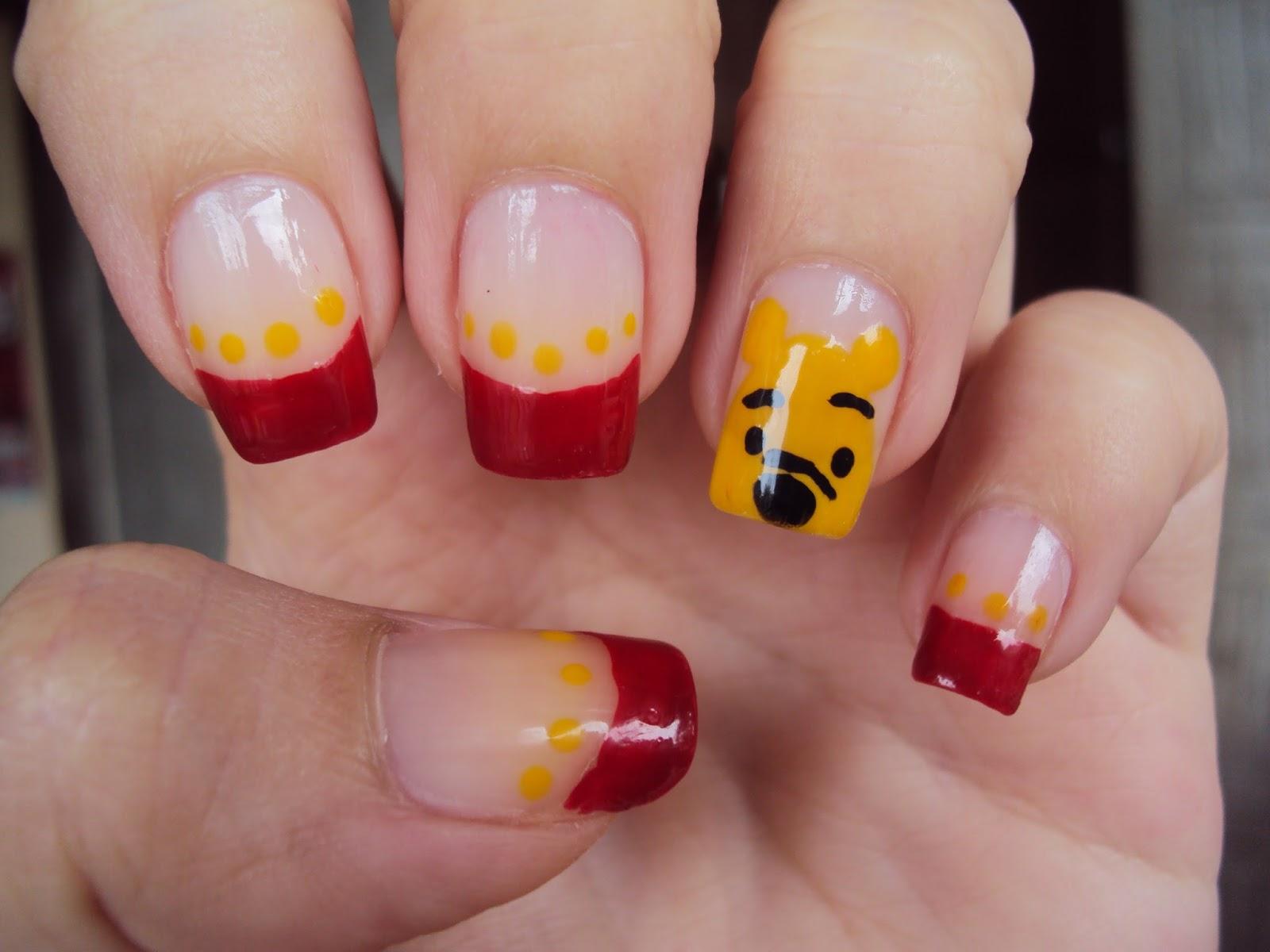 Judys Little Obsessions Nail Art Winnie The Pooh