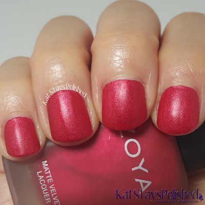 Zoya Matte Velvet 2015 - Amal | Kat Stays Polished