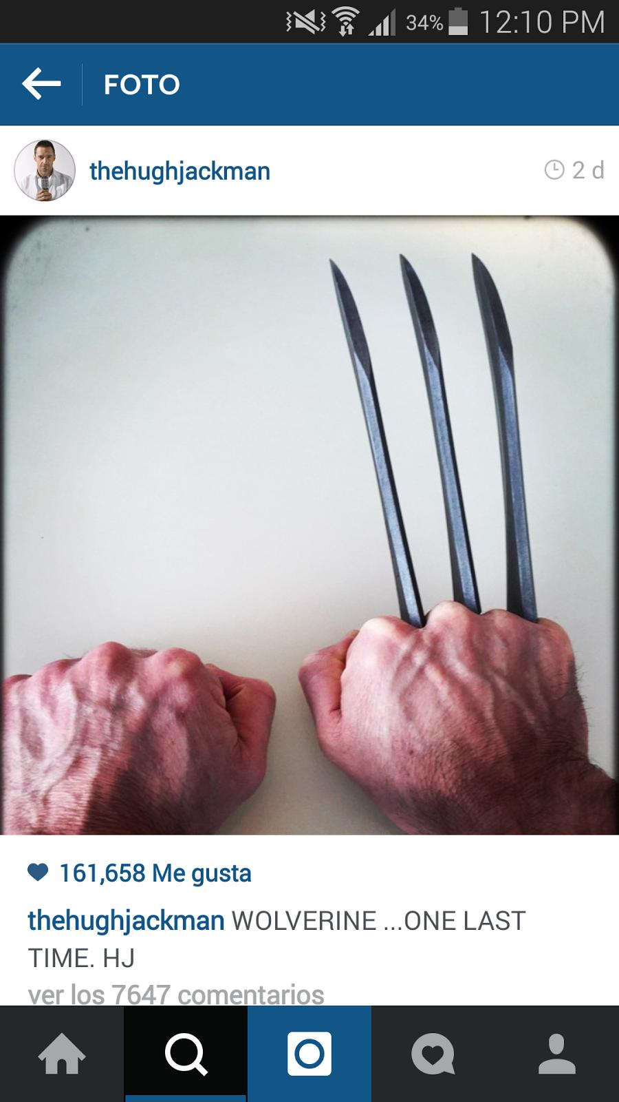 Garras de Wolverine en Hugh Jackman