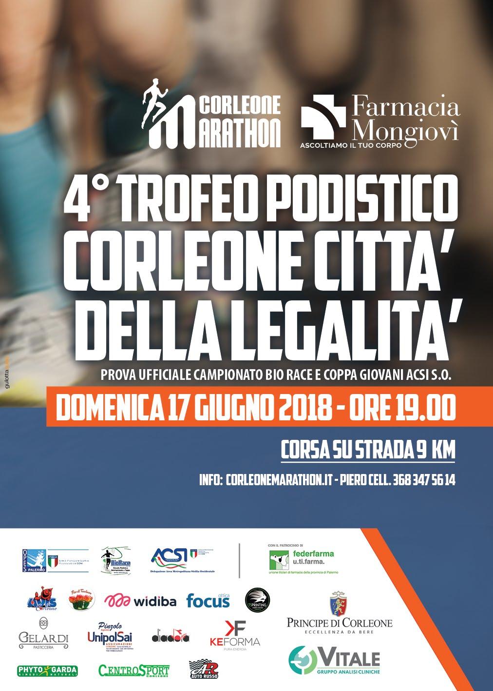 4° Trofeo podistico CORLEONE CITTA' DELLA LEGALITA'