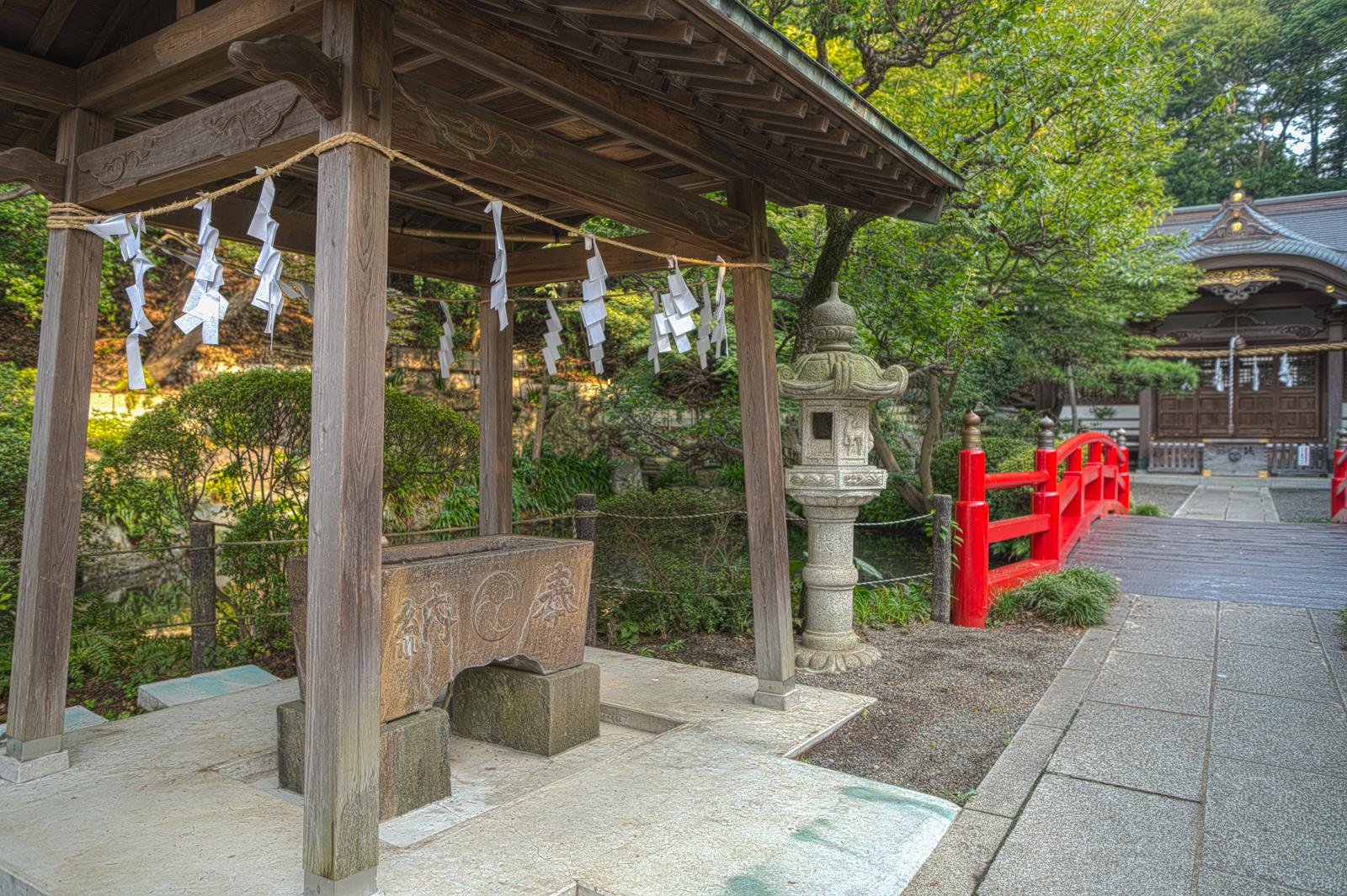 貫井神社、手水舎の写真