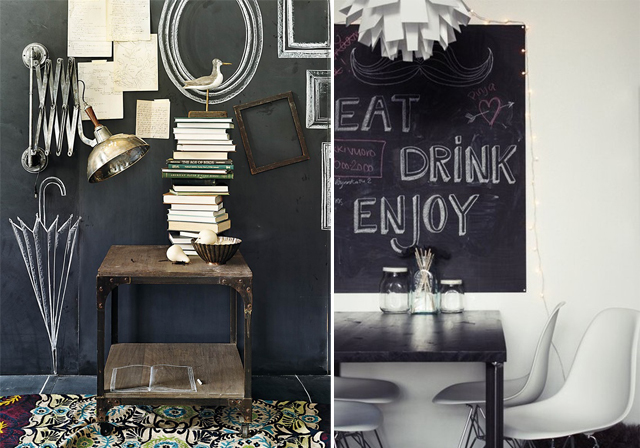riabstyle chalkboards auch als tapete. Black Bedroom Furniture Sets. Home Design Ideas