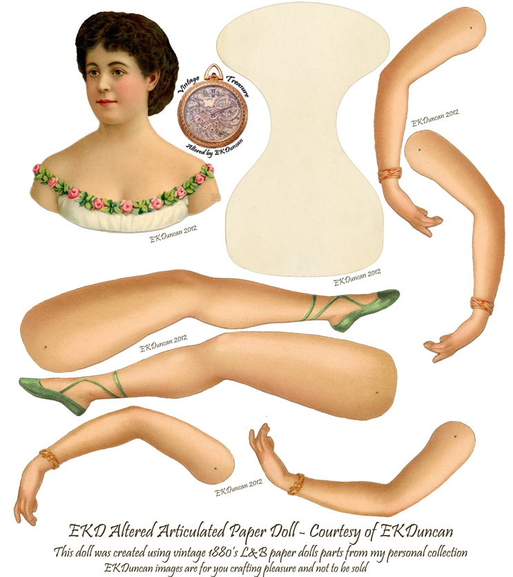 Adelina Patti paper doll - gets a New Look