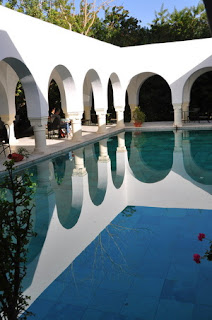 Outdoor Bath House Pool and Arches Leading to It