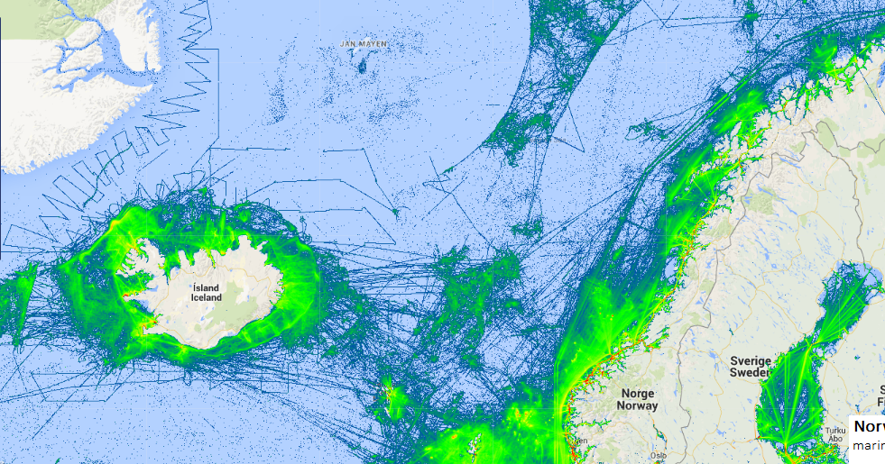 NORWEGIAN SEA SHIP TRAFFIC TRACKER | Marine Vessel Traffic
