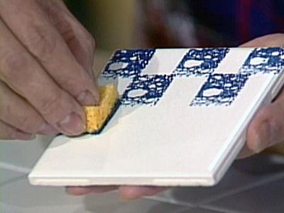 Olh o que eu vi pintura com esponja for Diy ceramic painting