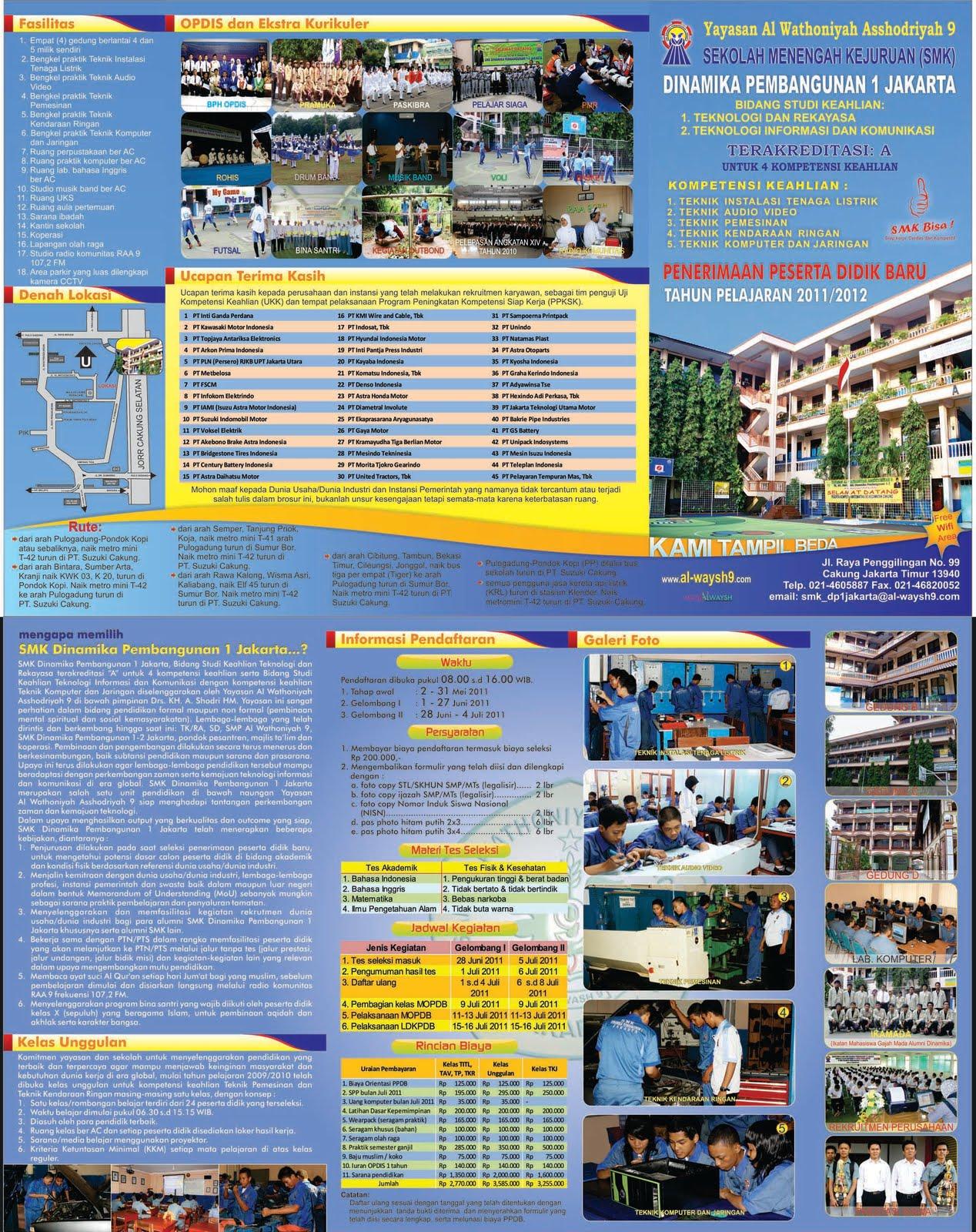 contoh desain brosur sekolah menarik