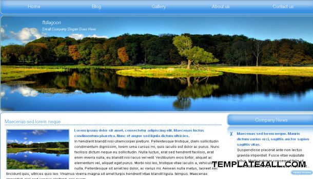 Lagoon Blue Jquery CSS Template