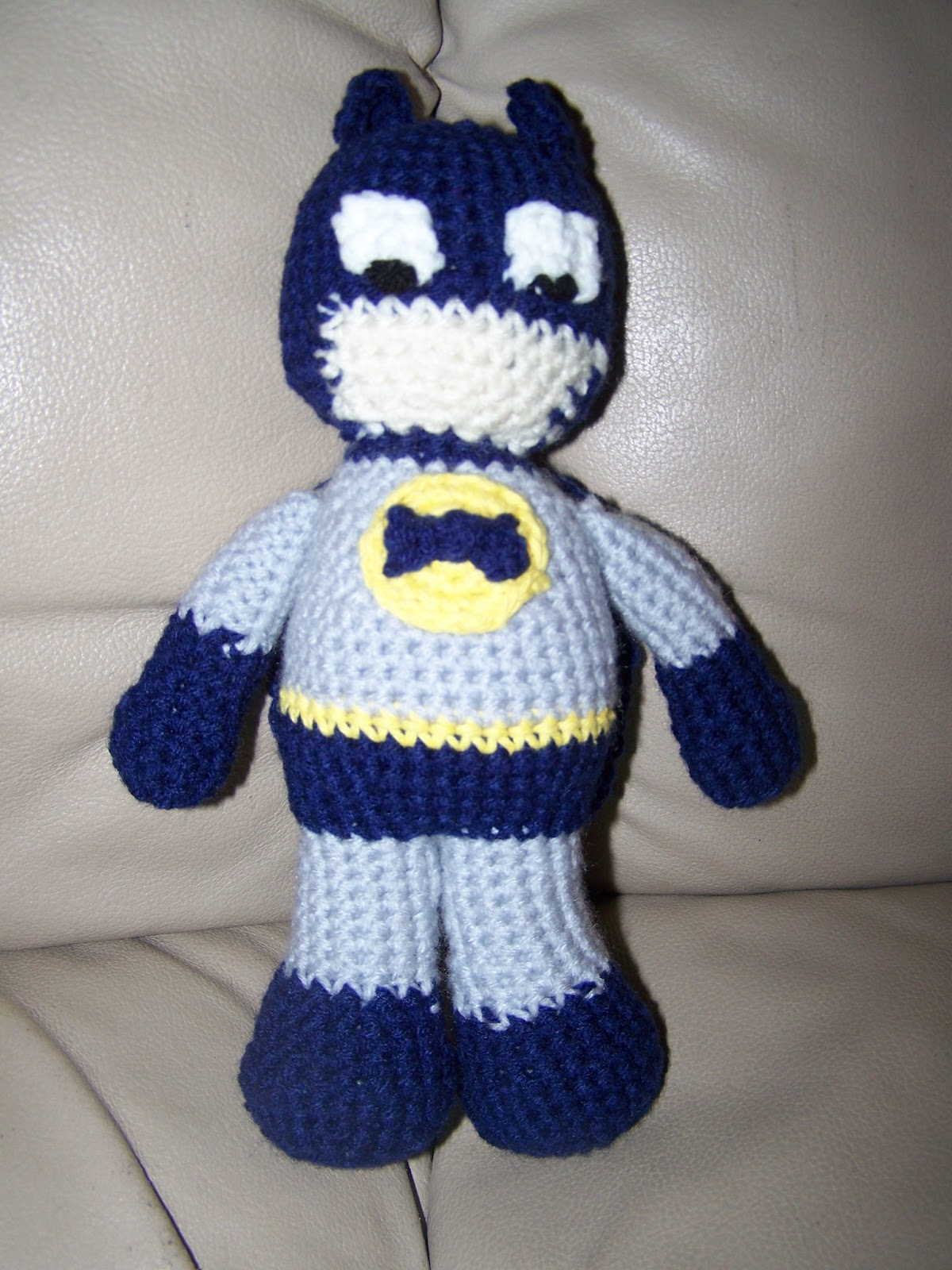 Amigurumi Crochet Batman : Cooking and Crocheting: Batman Crochet Doll