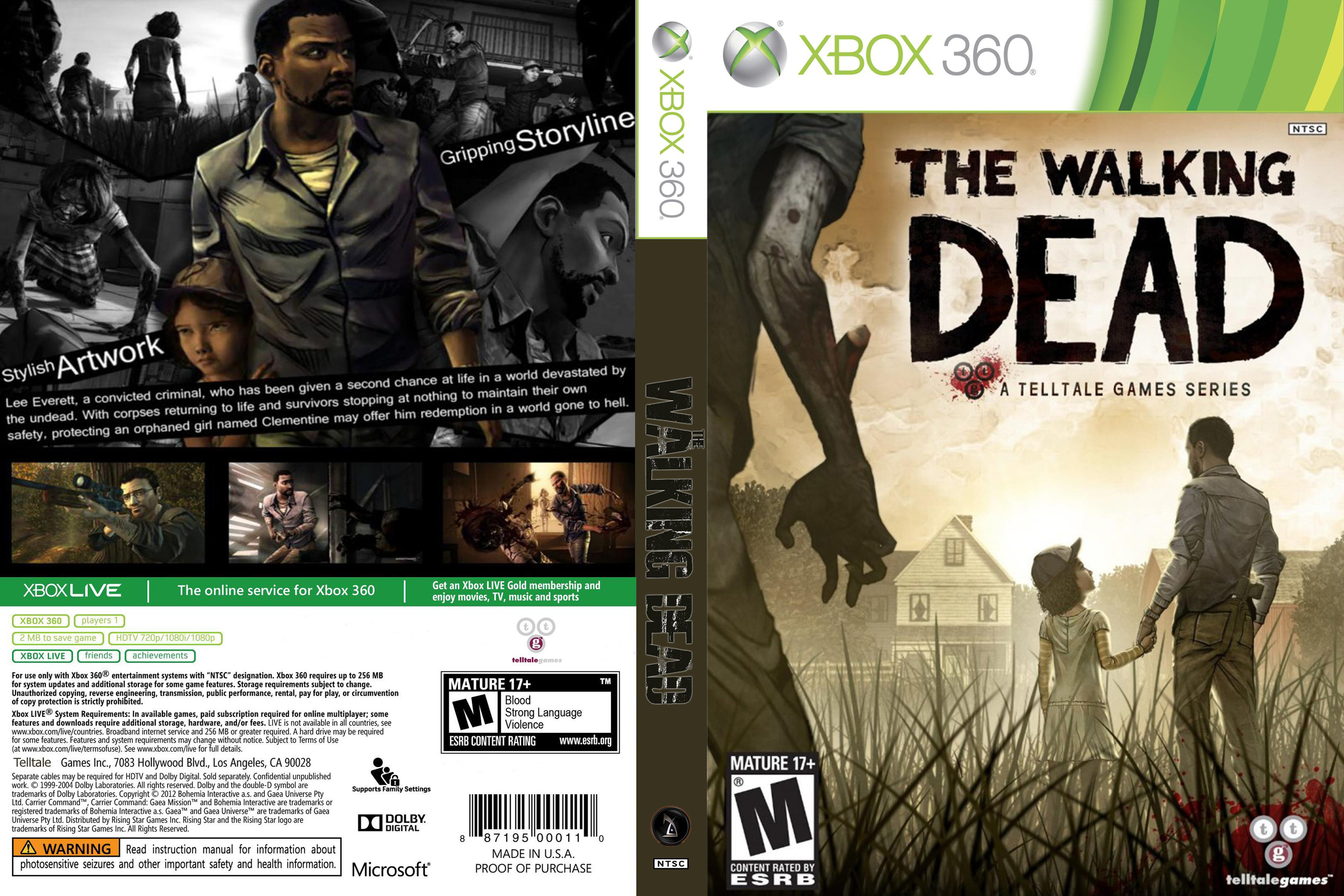 Capa The Walking Dead Xbox 360