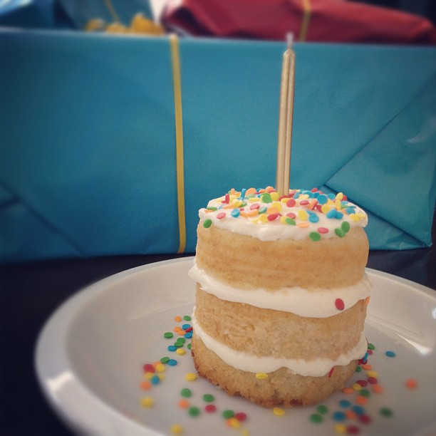 Siriously Delicious Individual Birthday Cake