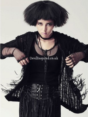 Black Gothic Punk Sweater Jacket for Women