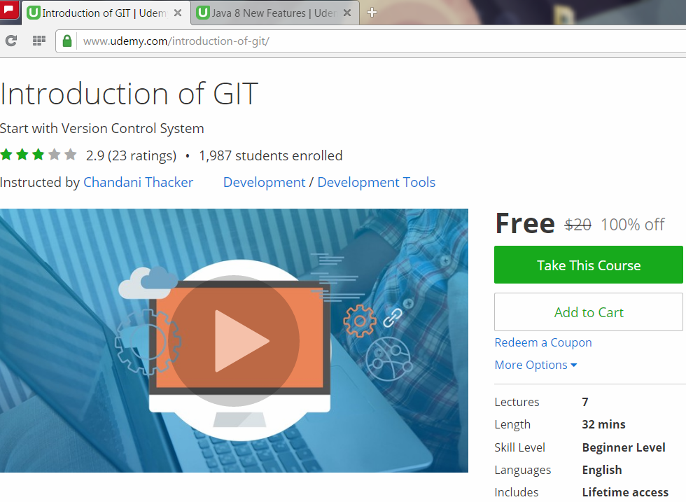 Get 100% OFF Coupon For GIT Course