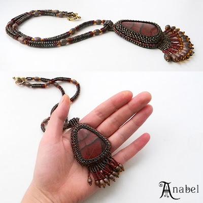 украшение из бисера на шею подарки ручной работы анабель