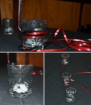 rock n roll shower lace candle holders