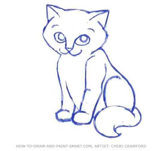 Easy to draw cats
