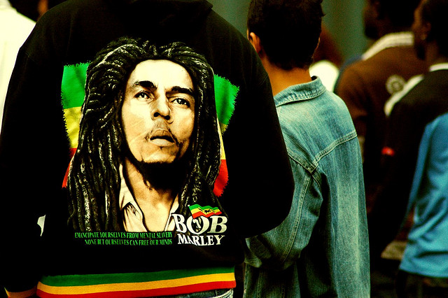 Bob Marley on a t-shirt