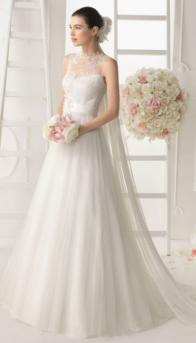 Aire barcelona 2014 bridal collection belle the magazine for Wedding dresses in barcelona spain