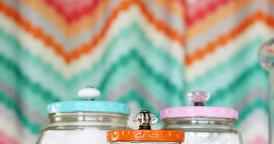 Pretty Bathroom Jars