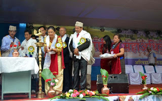 Sikkim MLA Tilu gurung in Gurung community National level seminar (Maha Adhiveshan) in Kalimpong