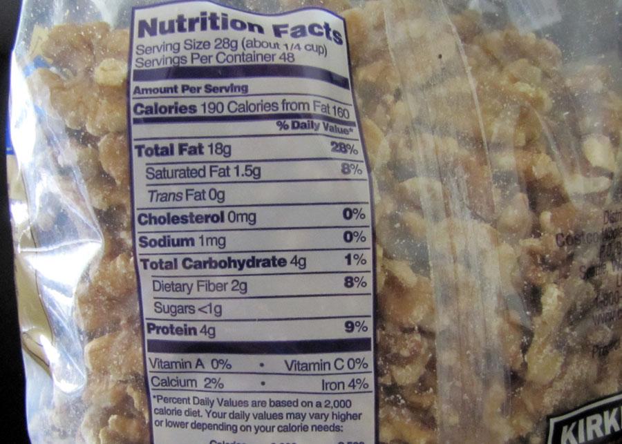 Walnuts Food Label Newhairstylesformen2014 Com