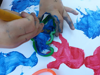 toddler painting, toddler activity, painting for kids