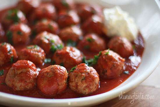 Crock Pot Italian Turkey Meatballs | Skinnytaste