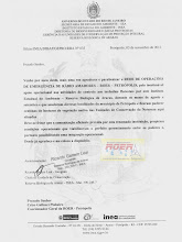 Agradecimento INEA a ROER