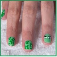 Nail Design using Disgust´s Grody Greens.