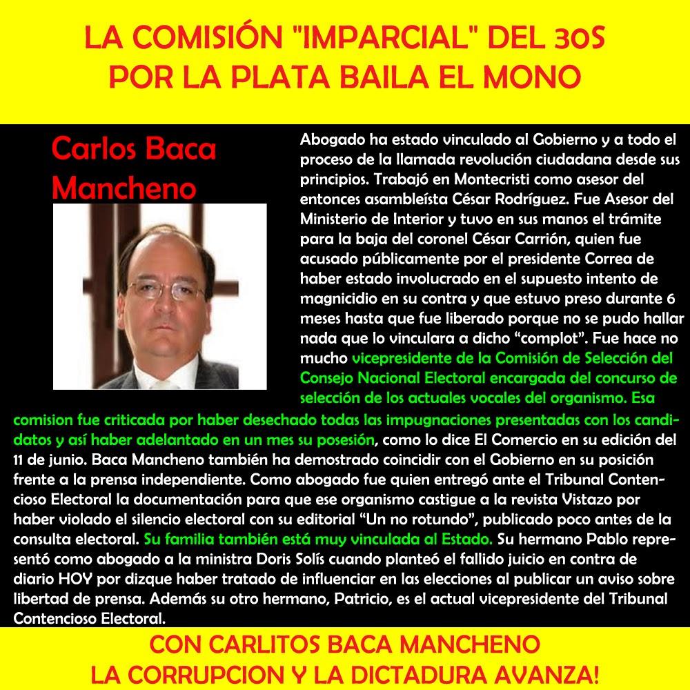 Carlos Baca Mancheno - Comisión 30s