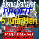 bisnis dahsyat, profit 6 juta perhari