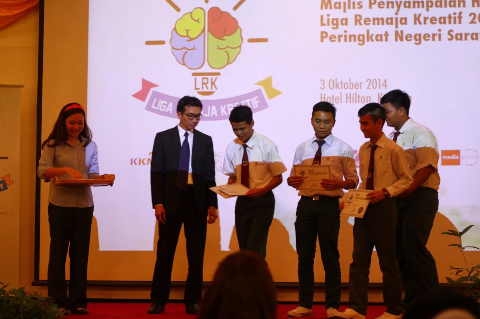 Keputusan Liga Remaja Kreatif 2014 (Zon Sarawak) SMK Baru Miri