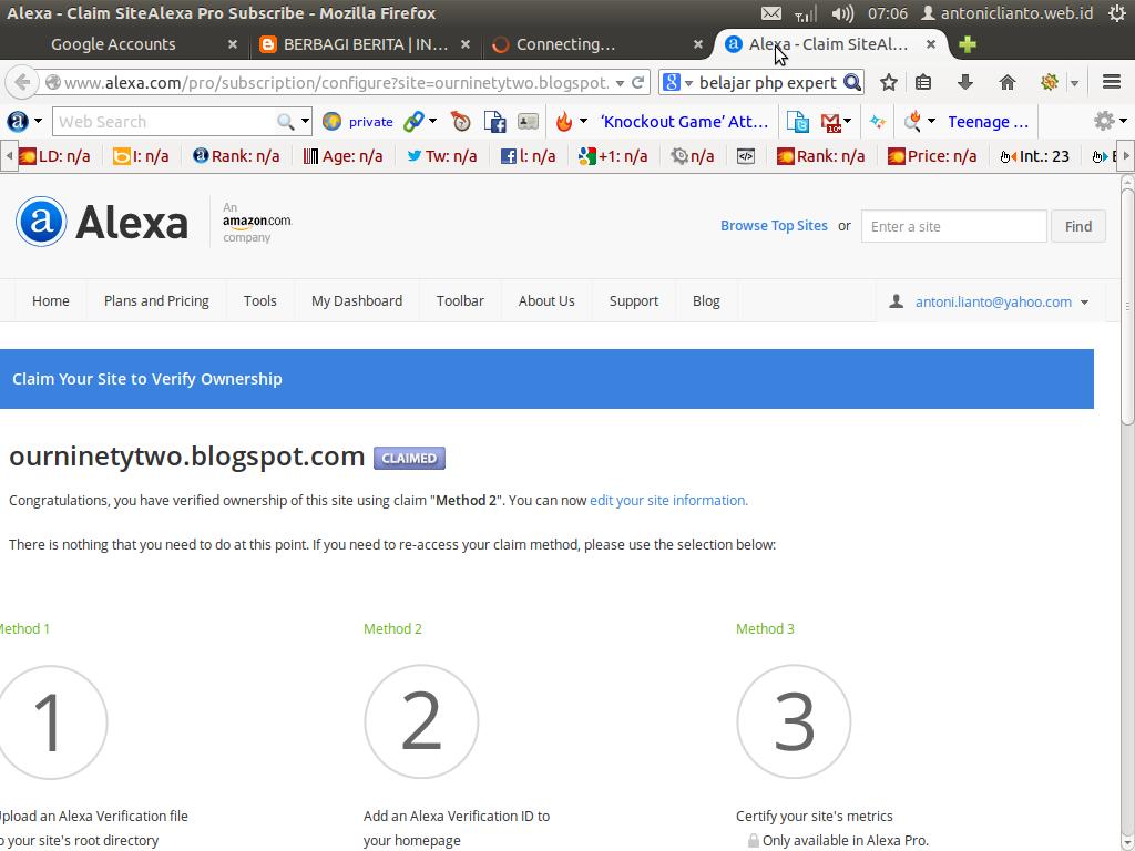Cara-mengklaim-website-dan-blog