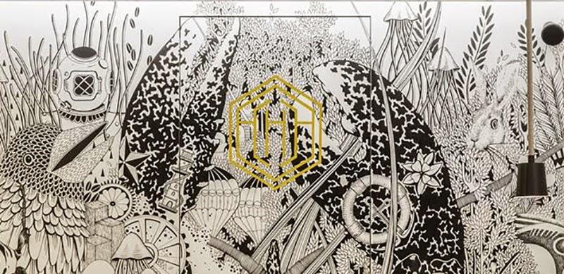 L 39 hexagone esth tisme d coratif et culinaire blog d co mydecolab - Papier peint motif paris ...