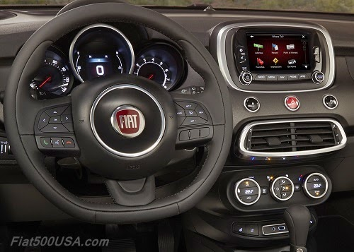Fiat 500X Dashboard and Infotainment