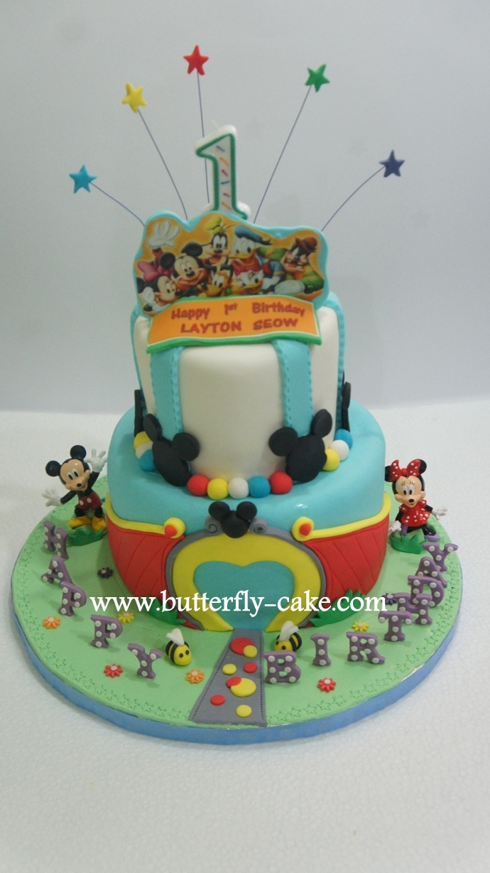 Butterfly Cake Mickey Mouse 1st Birthday Cake
