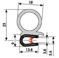 Joint Washer Front Cover moreover 1 also Door Seals By Dimensions By Foot likewise 1 likewise 1. on trailer door gasket
