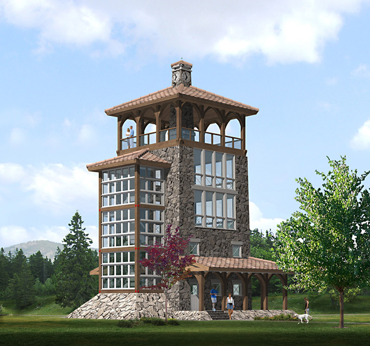 Tower house 28 images tower house closer view for House plans with towers