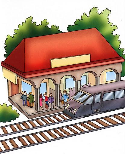 estacion de tren imagenes y dibujos ciudad para imprimir hospital