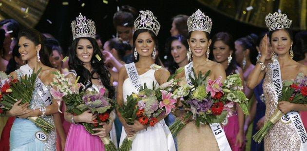 Bb. Binibining Pilipinas 2013 winners Ariella Arida, Pia Wurtzbach, Cindy Miranda, Mutya Datul and Bea Santiago