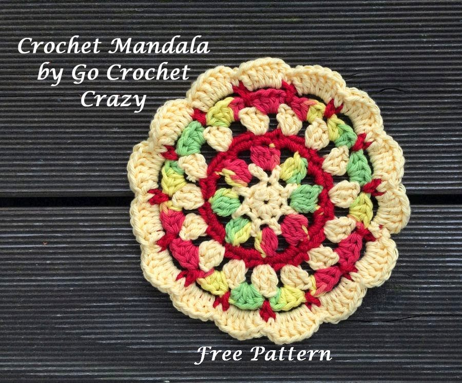 Free pattern on the blog for Crochet Mandala by Go Crochet Crazy