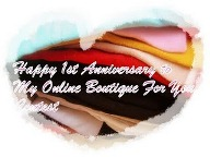 1st Anniversary Contest by My Online Boutique For You