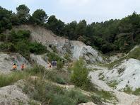 Caminant per una zona de margues blavoses a prop del Torrent de Can Sagristà